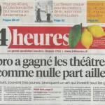 Christophe Nançoz improvisation article 24 heures presse suisse